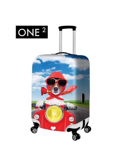 Funny Crazy Little Unicorn Travel Suitcase Protector Zipper Suitcase Cover Elastic