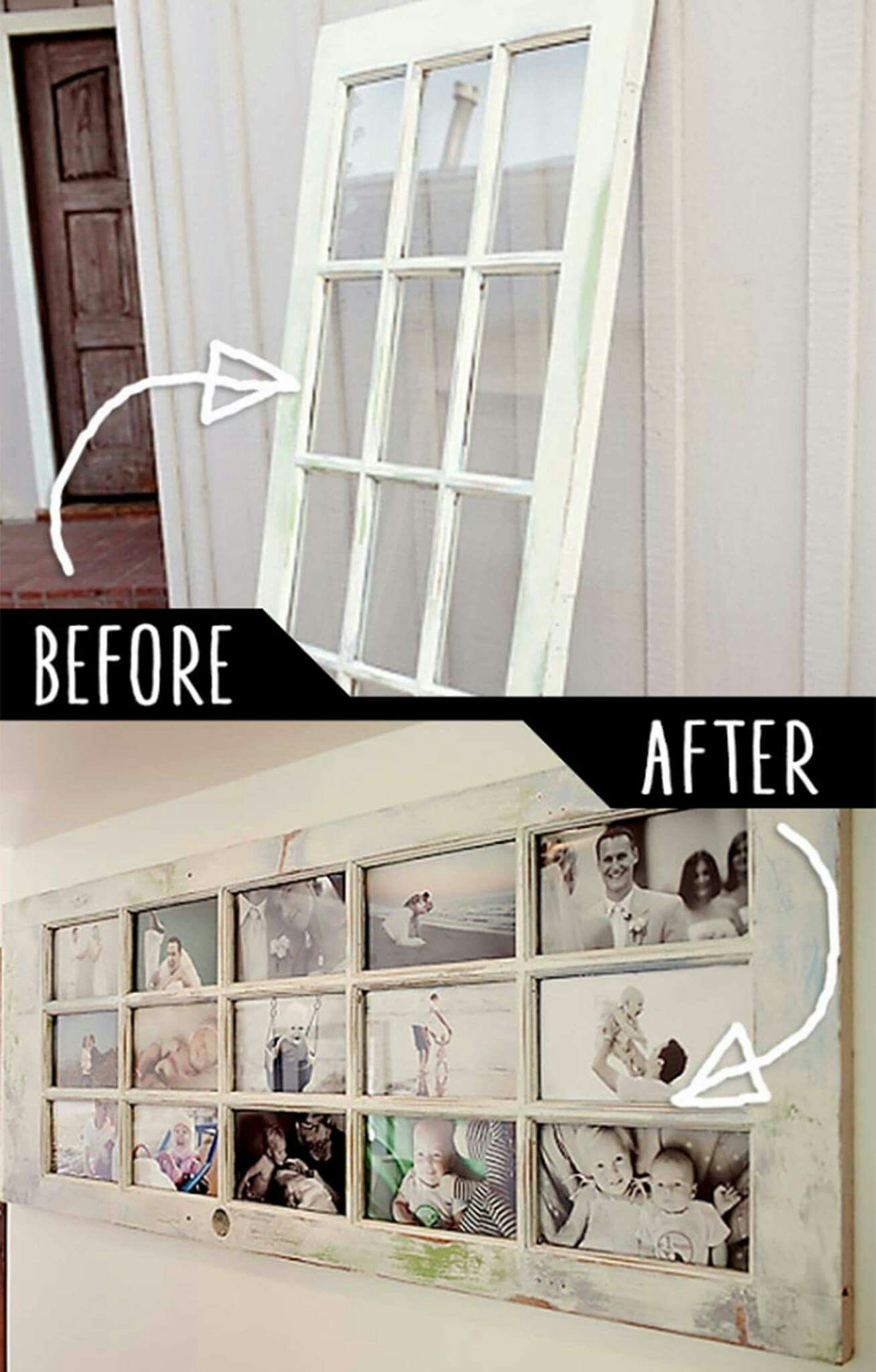 Such a lovely idea turning old door into a family life story