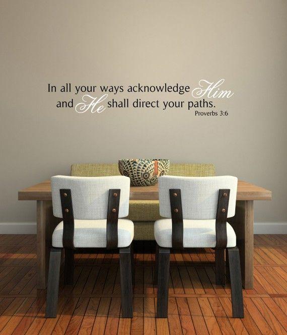 In All Your Ways Acknowledge Him Proverbs By Prairiestormdesigns