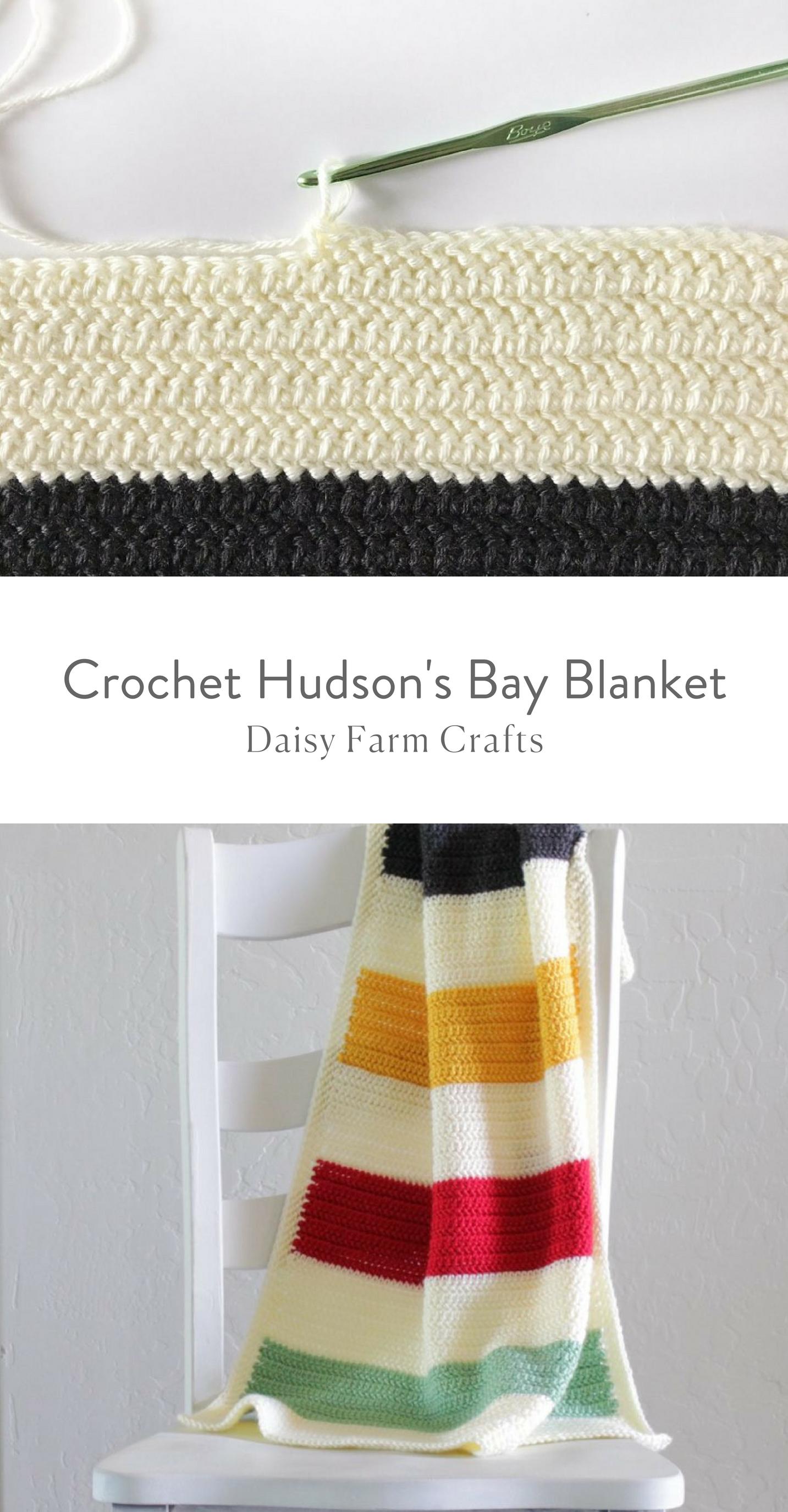 Free Pattern - Crochet Hudson\'s Bay Blanket | CROCHET | Pinterest ...