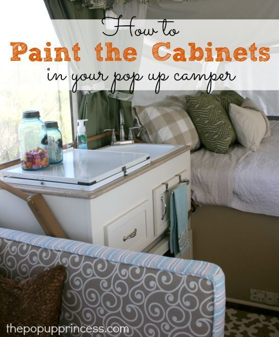 Pop Up Camper Remodel Painting The Cabinets Camping