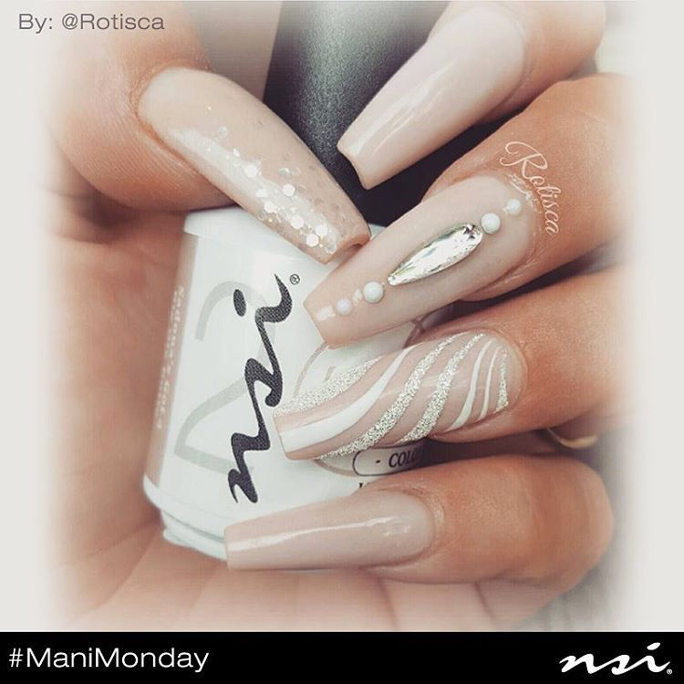 """Happy #ManiMonday everyone! Check out these angelic nude nails by @rotisca ! She is using our #1 nude shade, """"Sedona's Got a Big Ol Butte"""" from our Gel Polish Pro line!  #nsi #nsinails #nailtech #nails #nailart #mani #manicure #gelmani #gelpolish #gels #nailmani #manimonday #nailprofessional #nudenails"""