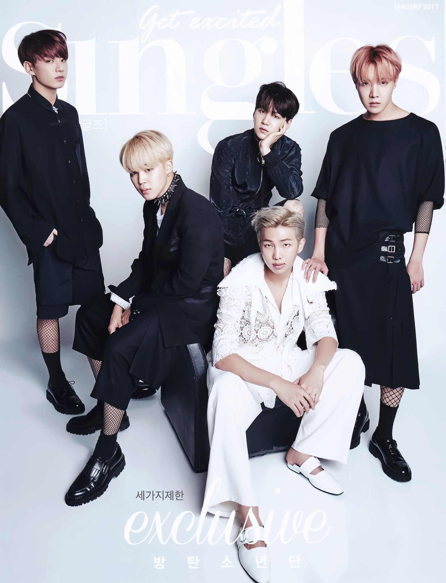 BTS for 'Singles' Magazine January 2017 issue [161217]
