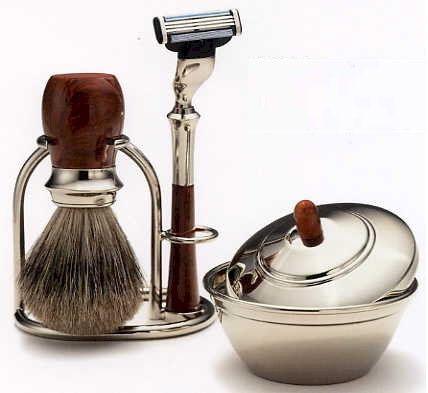 Shaving brush and razor set