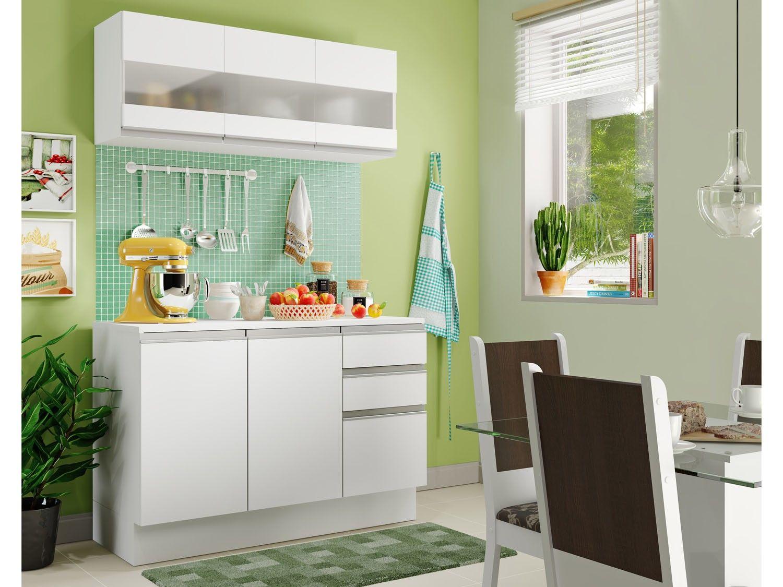 Cozinha Compacta Madesa Smart G20071 Com Balc O 6 Portas 2 Gavetas