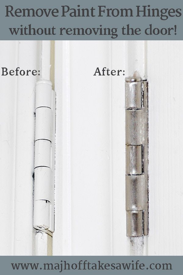 Remove paint from door hinges easily and simply. N