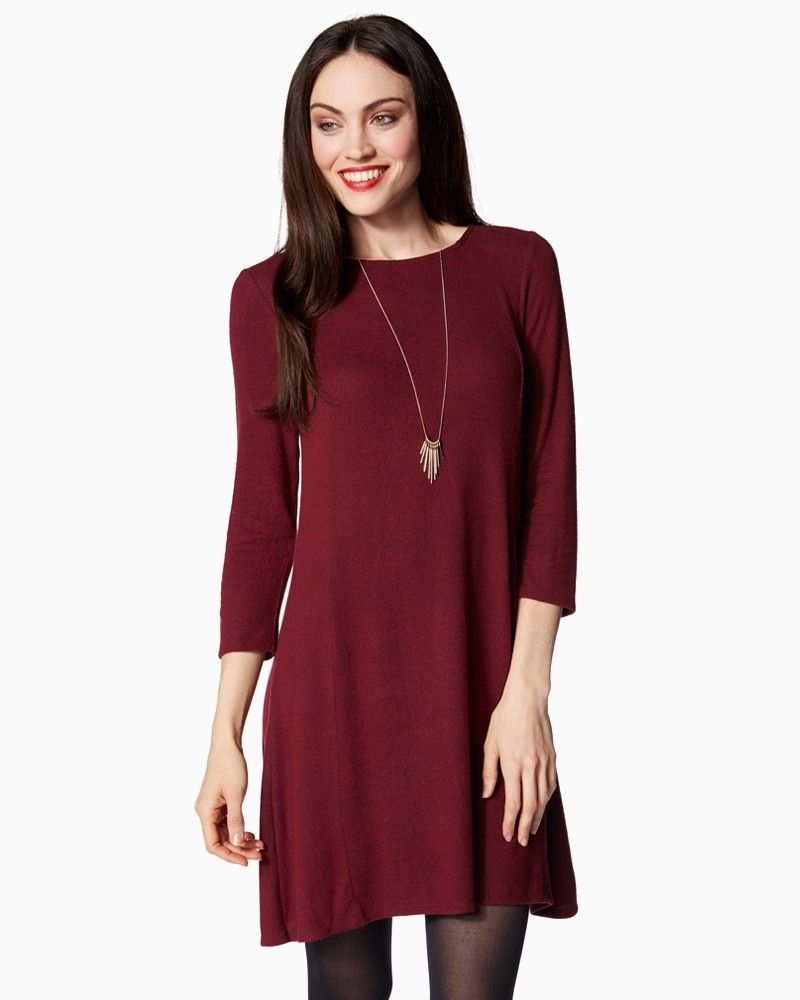 Cozy Fit and Flare Dress | Charming Charlie