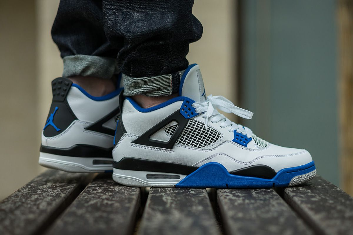 5a6b8260ec163 On-Foot  Air Jordan 4 Retro  Motorsports  - EU Kicks  Sneaker Magazine