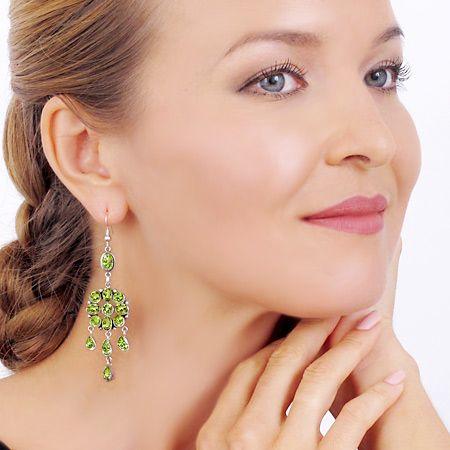 Peridot Chandelier Earrings: Peridot Chandelier Hook Earrings,Lighting