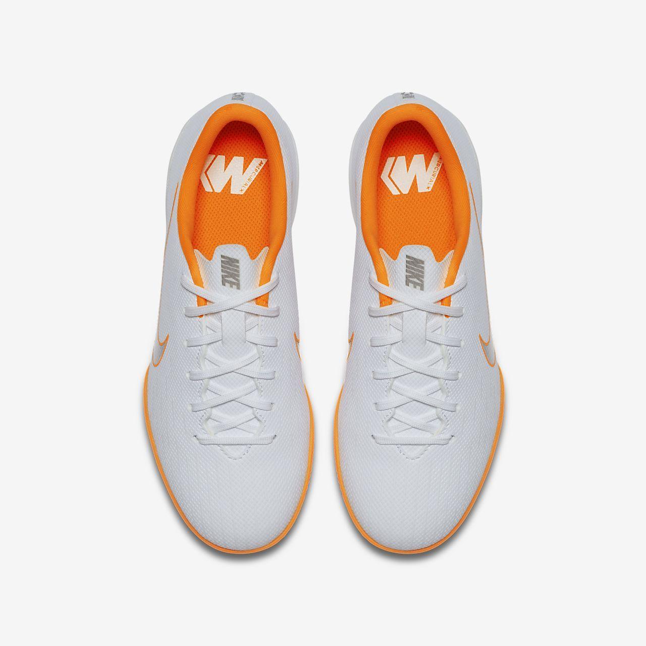 29ea04fe5f7 Nike Jr. MercurialX Vapor XII Academy Just Do It Younger Older Kids  Indoor Court  Football Shoe