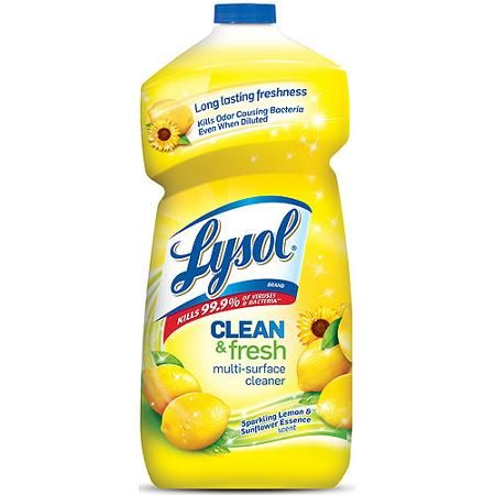 Lysol Clean Fresh Multi Surface Cleaner Lemon Sunflower 40oz