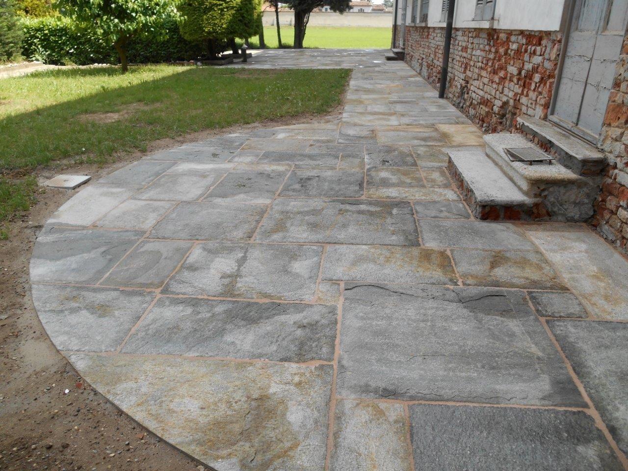 Pavimentazione Giardino In Pietra realizzazioni le nostre pietre | album | contini vittorio