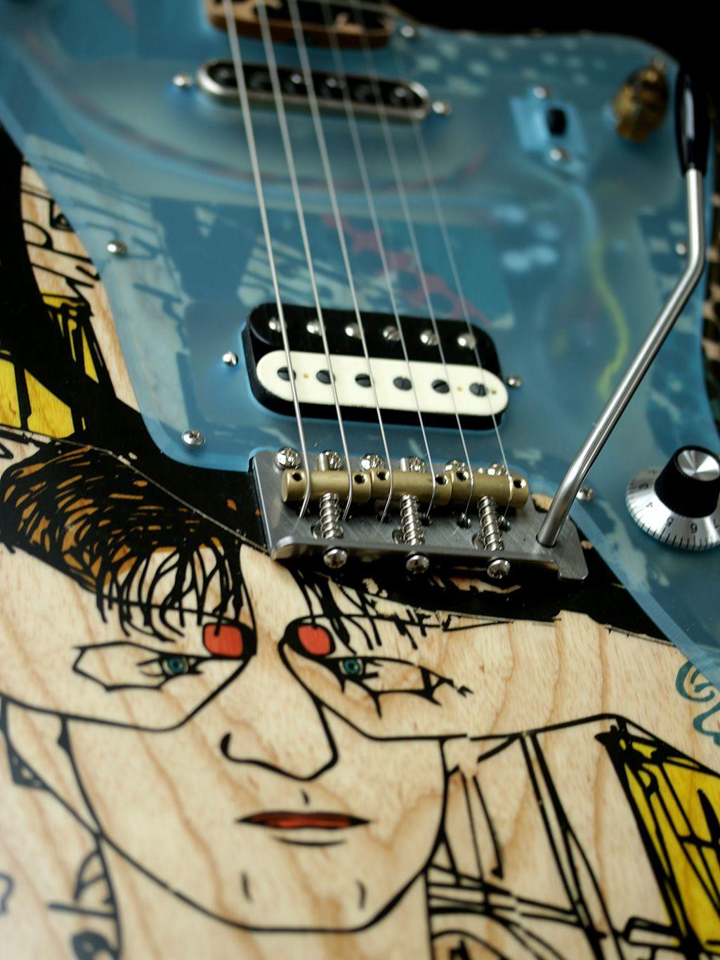 Deimel Firestar Artist Edition Berlin Tonight Art By Kora Junger Guitar Art Cool Guitar Guitar Painting