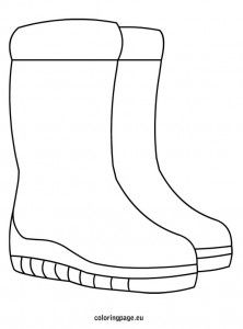 Snow Boots Coloring Snow Boots Winter Lesson Plan Diy Fall