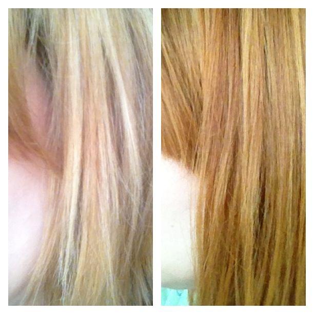 Henna Over Blonde Hair Tres Chic Hair Hair Dyed Hair Henna Hair