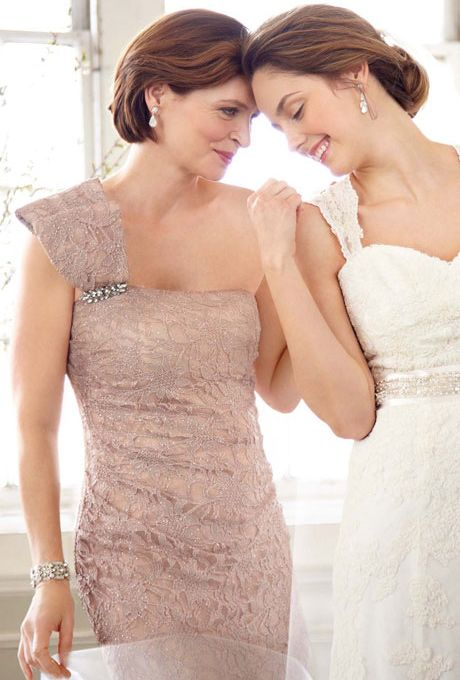 Coral David's Bridal Mothers Dresses