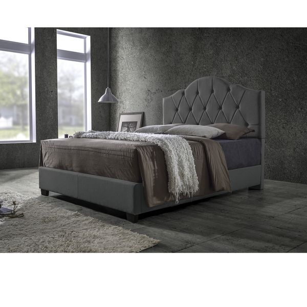 baxton studio romeo espresso brown upholstered bed by baxton studio