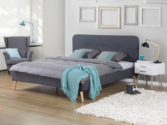 polsterbett grau lattenrost 180 x 200 cm rennes doppelbett 180x200 polsterbett und doppelbett. Black Bedroom Furniture Sets. Home Design Ideas