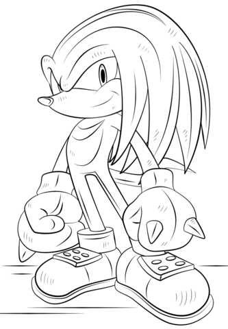 Knuckles The Echidna Coloring Page Superhero Coloring Pages Cartoon Coloring Pages Pokemon Coloring Pages