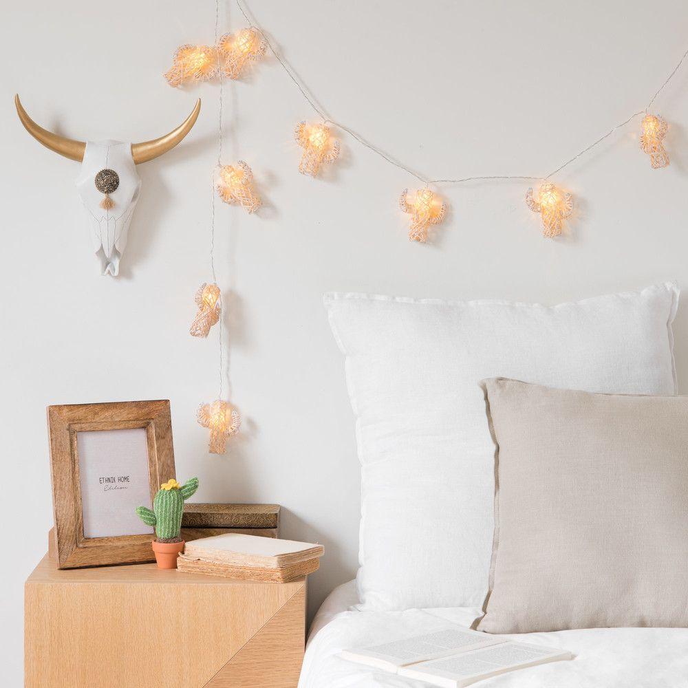 guirlande lumineuse cactus 10 led en bambou maisons du. Black Bedroom Furniture Sets. Home Design Ideas