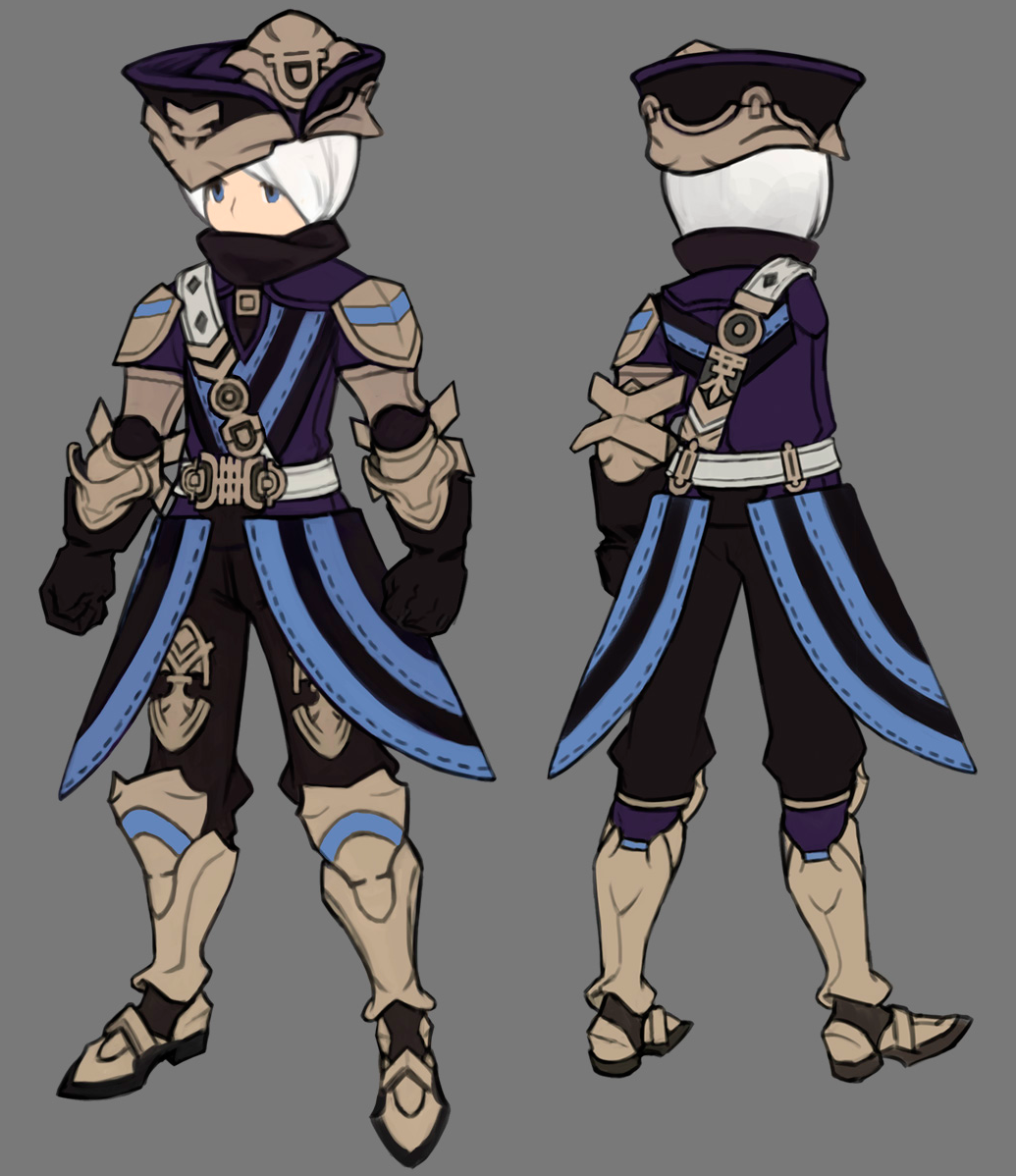 Character Design Set : Dragonnest costume set wedge plate knight
