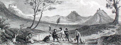 Gezeichnet hat diese Ansicht Otto Wagner. R. Dawson hat sie in einem Kupferstich von 1838 nachempfunden. Repro: Peter Arlt