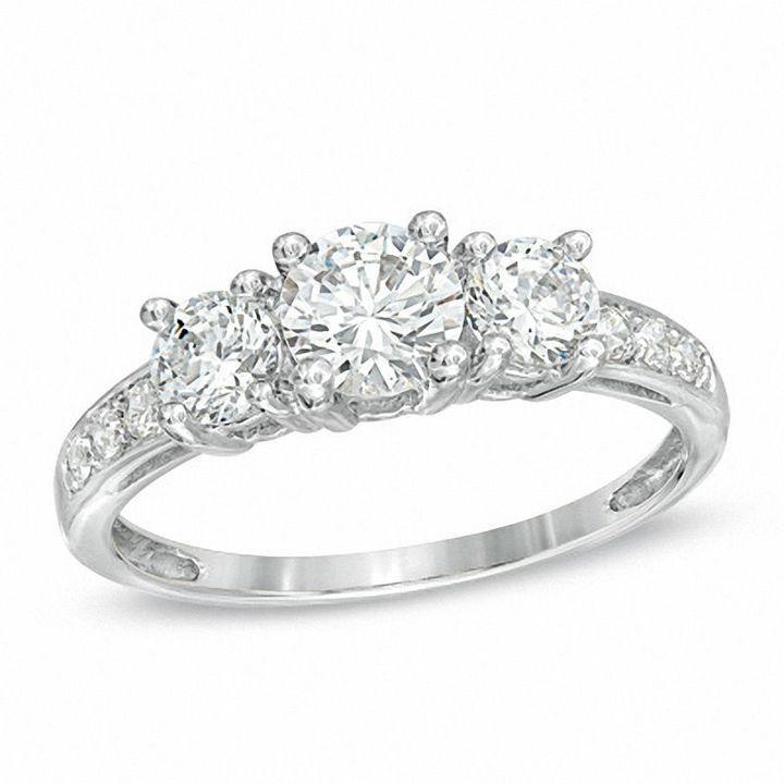 14+ White sapphire bridal set zales information