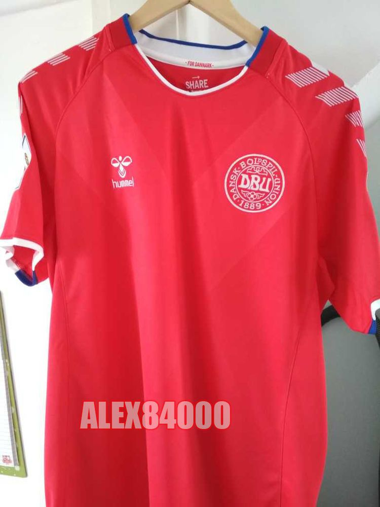 42d9bc3d53c Denmark Jersey Soccer WORLD CUP 2018 HOME Away SHIRT ADULT SIZES Football  BNWT  Hummel  Denmark