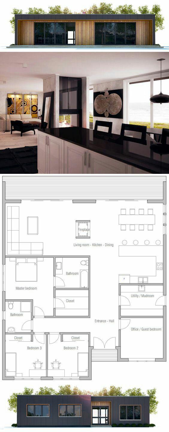 Piante case moderne with piante case moderne excellent for Moderni progetti di bungalow e planimetrie