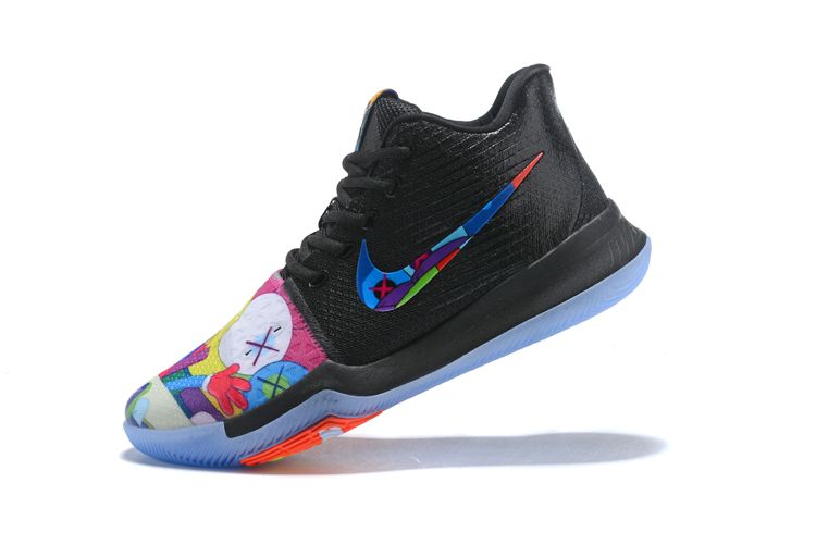 69934c236c1 KAWS x Nike Kyrie 3 Black Multi-Color Men s Basketball Shoes in 2019 ...