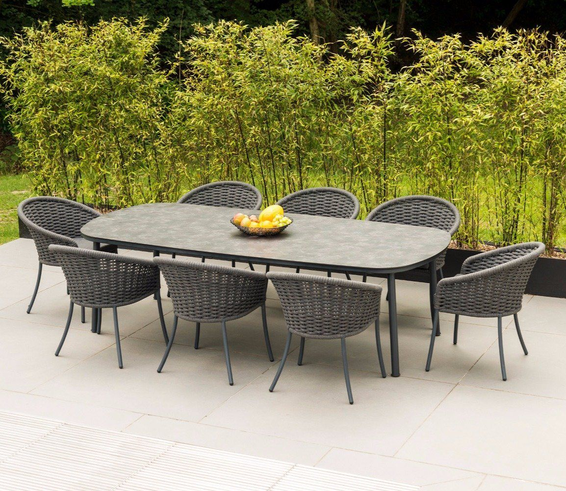 Alexander Rose Cordial Grey 2.6m Dining Table Outdoor
