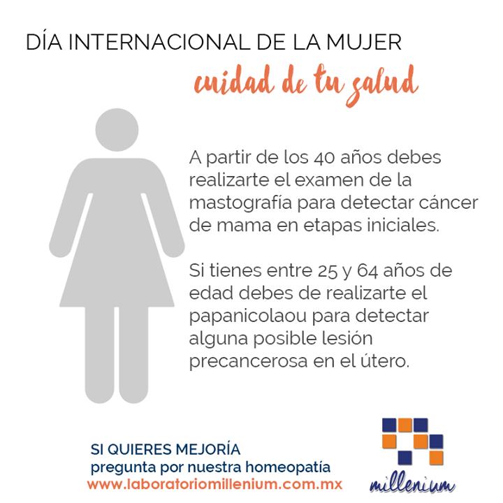 #DíaDeLaMujer Cuídate con prevención.
