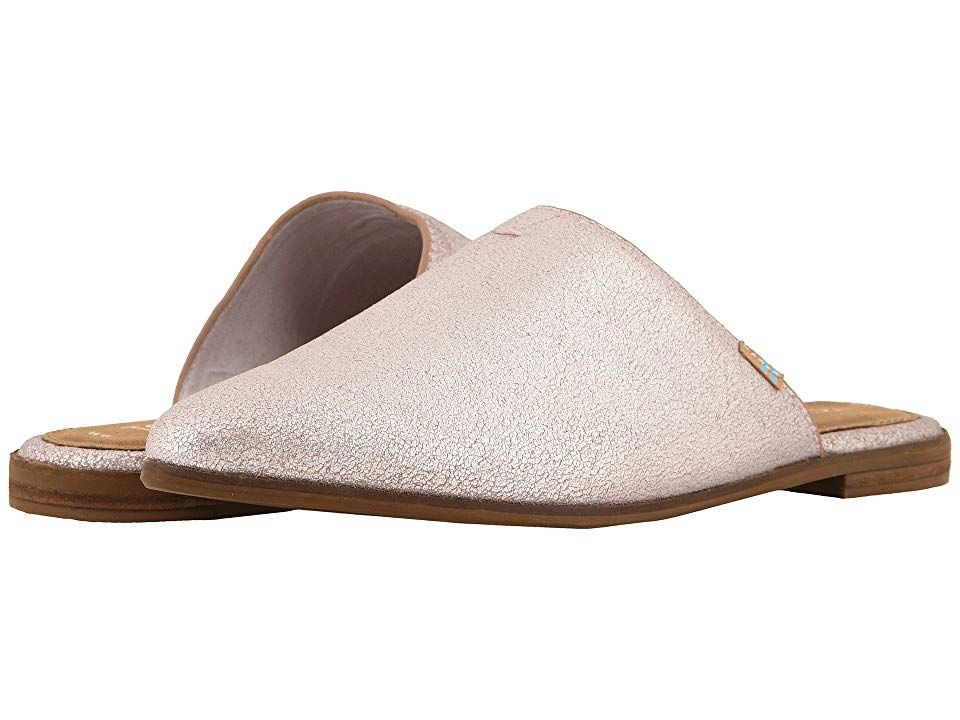 TOMS Jutti Mule Lavender Metallic Leather Womens Slip on Shoes With every pair of shoes you purchase TOMS will give a new pair of shoes to a child in need One for One The...