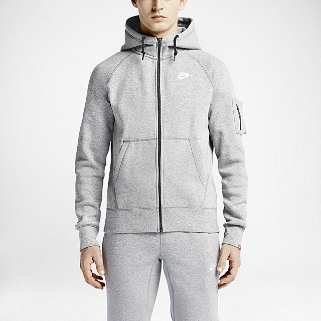 Nike AW77 Fleece Full-Zip Men's Hoodie. Nike Store