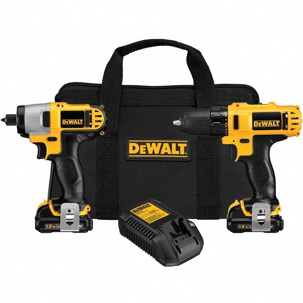 Dewalt 12 Volt Max Lithium Ion Cordless Drill Driver And Impact Combo Kit 2 Tool With 2 Batteries 1 5ah Charger And Bag Dck211s2 With Images Combo Kit Dewalt Dewalt Drill