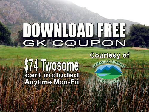GK Coupon – Camarillo Springs Golf Course Tee Time Special