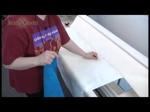 How to rack your quilt on a lonarm quilting machine.