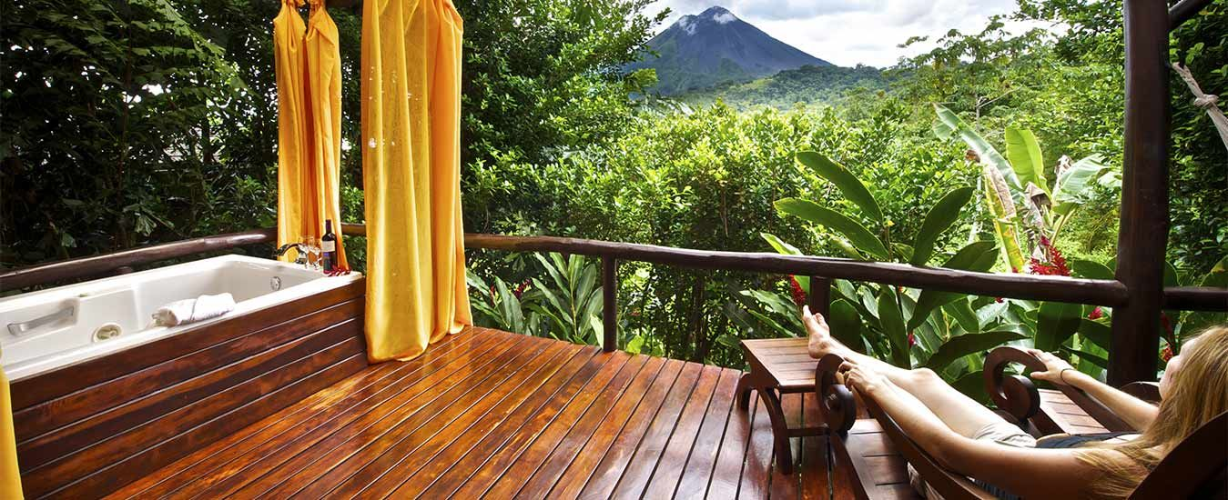 View From Nayara Hotel Spa Gardens Arenal Volcano National Park Costa Rica