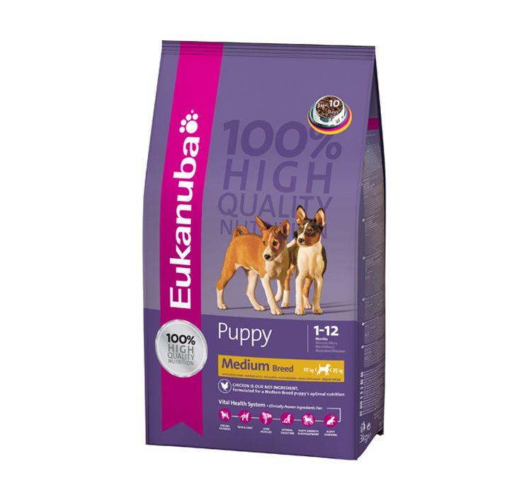 Eukanuba dog food medium breed puppy 15 kg dog food