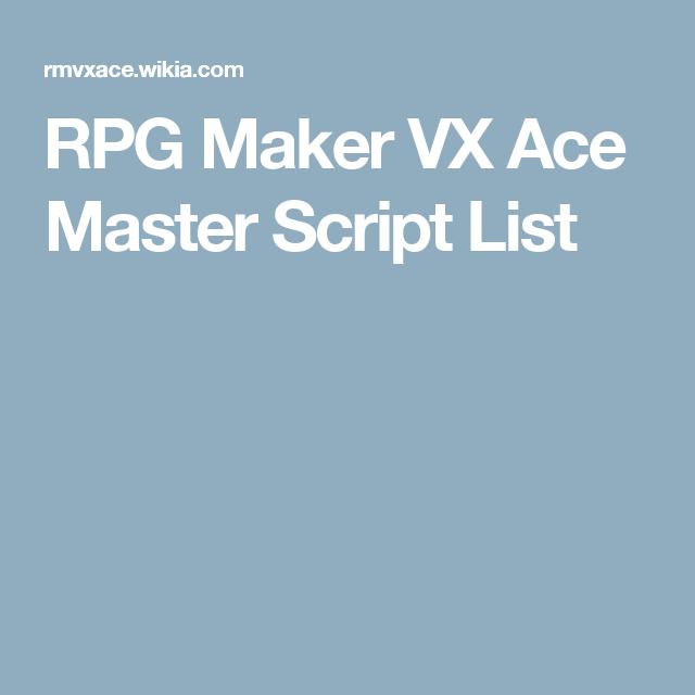 Rpg maker vx ace master script list rpg maker vx rpg maker and rpg rpg maker vx ace master script list publicscrutiny Image collections