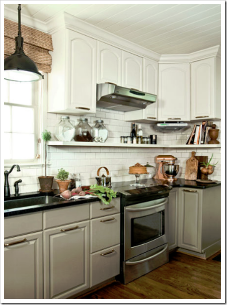Budget Kitchen Remodel · Cabinet Color: BM Fieldstone 1558 Good Looking