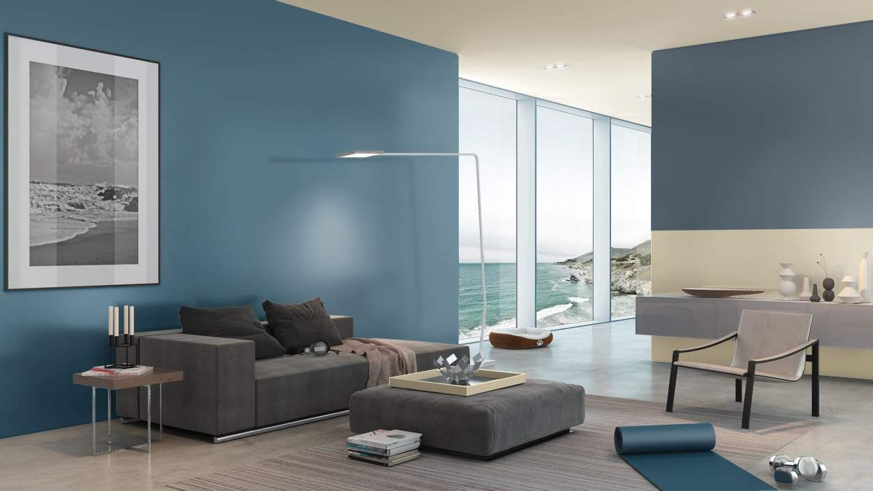 Home interior colour combination same colour scheme blue danube and straw  for the home  pinterest