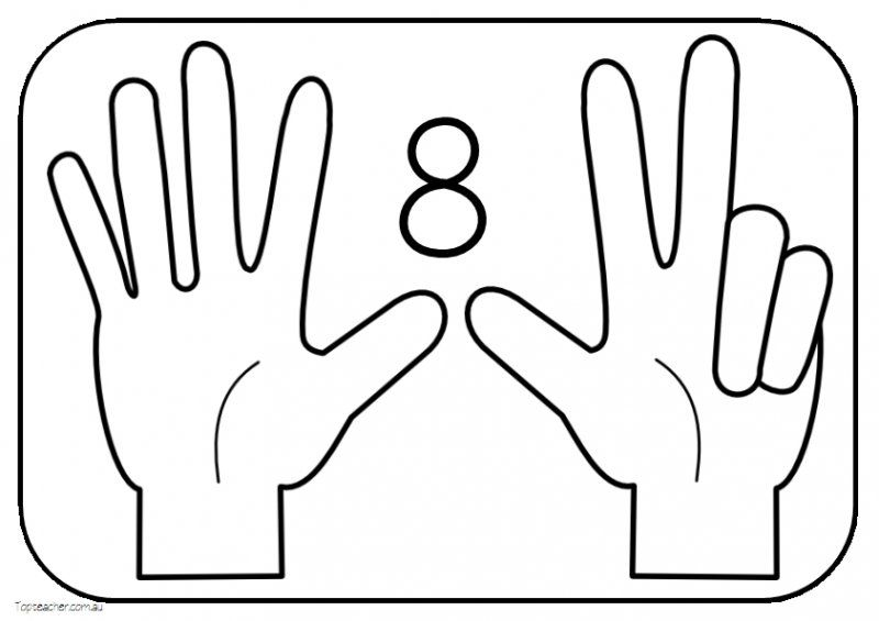 coloring pages counting fingers - photo#15