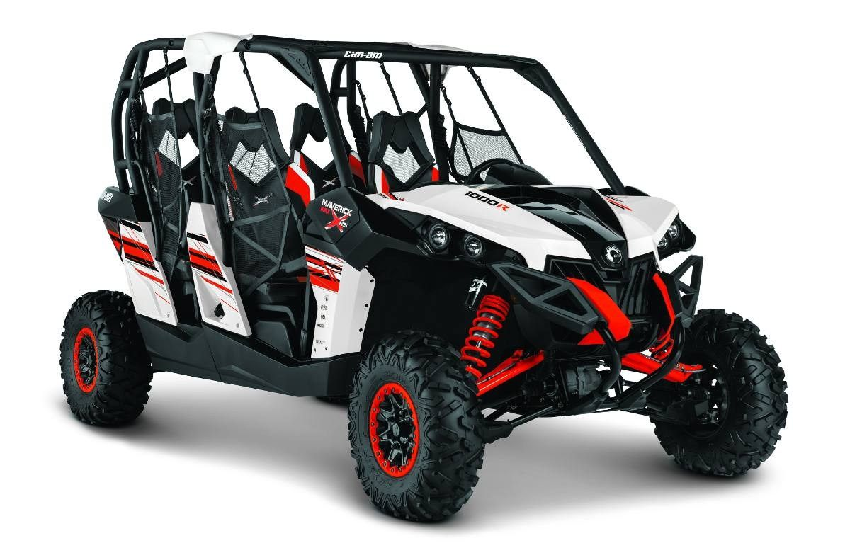 CanAm Maverick MAX 1000R X rs DPS™ White, Black & Red