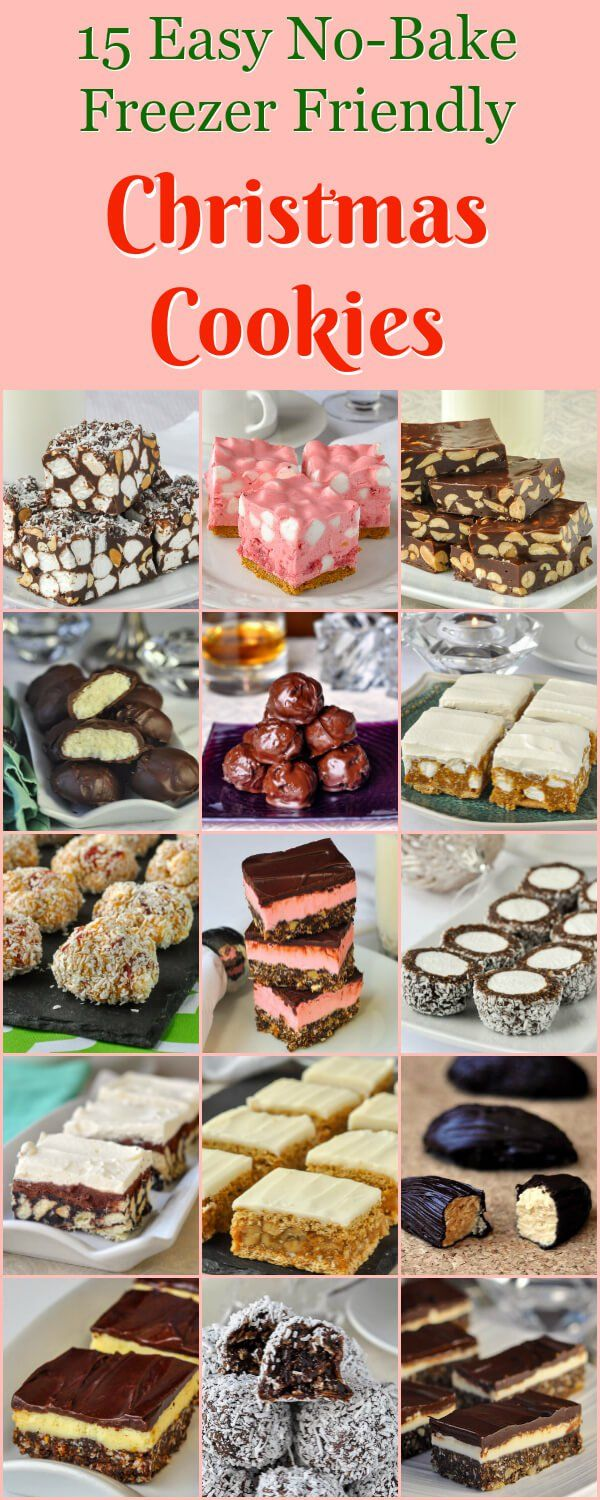 No Bake Christmas Cookies Easy Freezer Friendly A Great Collection Of The Most Popular No Bake Cookies That Are Great At Any Time Of Year But