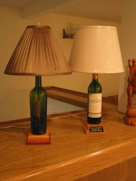 Como hacer lamparas con botellas hacer lamparas - Como pegar corchos de botellas ...