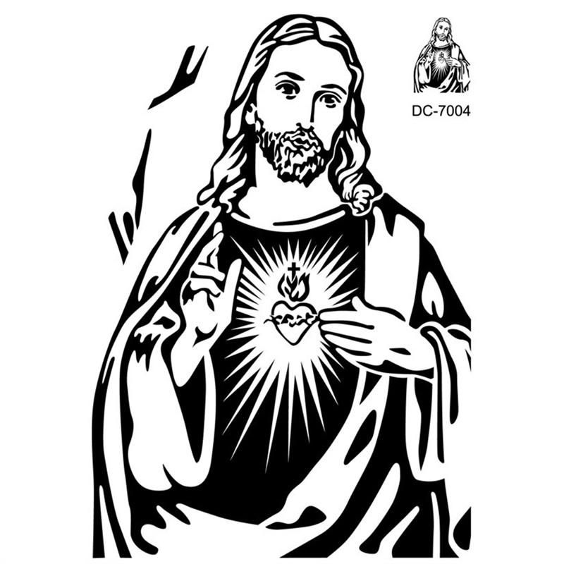 Black Jesus Wall Art: Christian Character Jesus Wall Stickers Crossing Fingers