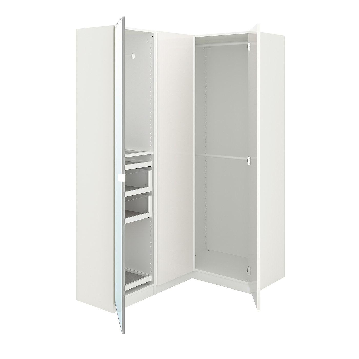 PAX Corner wardrobe white, Fardal Vikedal 63 1/8/34 5