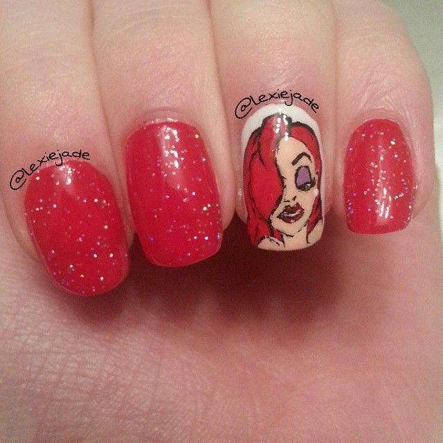 Jessica Rabbit Nails | Nails | Pinterest | Jessica rabbit, Nail ...