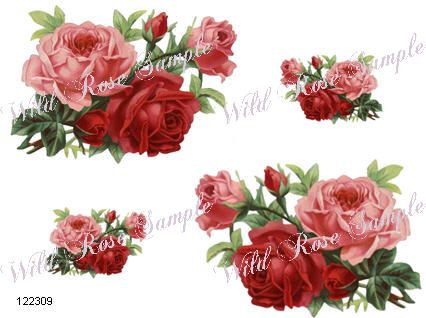 STuNninG XL PinK & ReD AnTiQue RoSeS ShaBby FuRniTuRe DeCALs | Designs by  Iris - STuNninG XL PinK & ReD AnTiQue RoSeS ShaBby FuRniTuRe DeCALs